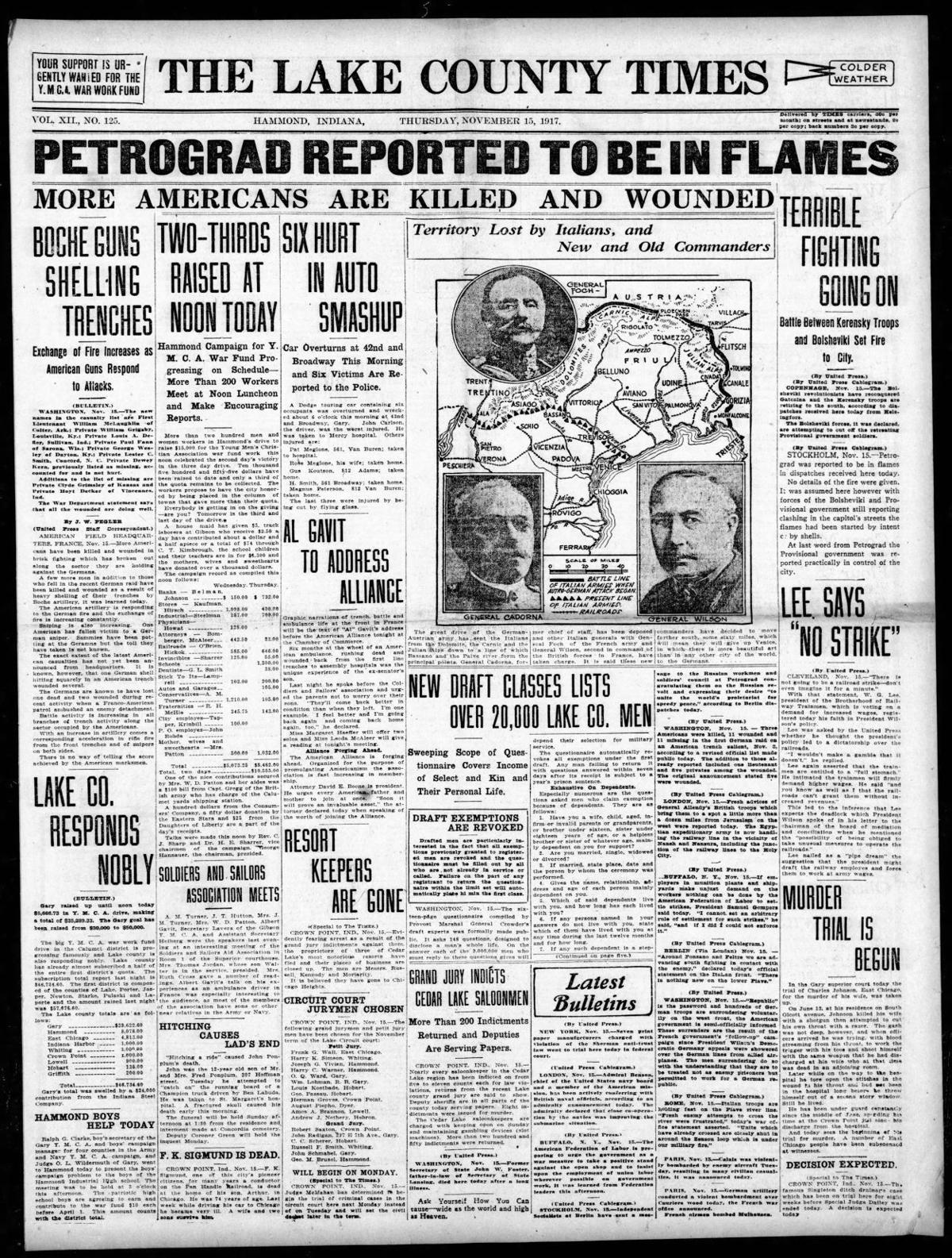 Nov. 15, 1917: Petrograd Reported To Be In Flames