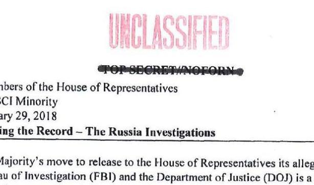 "Full memo: ""Correcting the Record: The Russia investigations"""