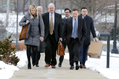 Portage Mayor James Snyder arrives for his public corruption trial