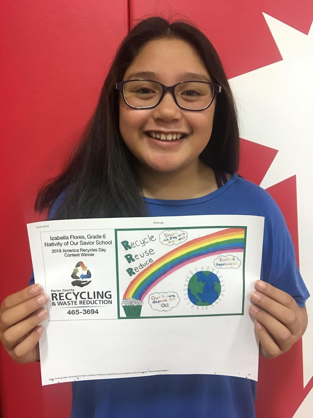 Students' art featured on billboards to promote recycling