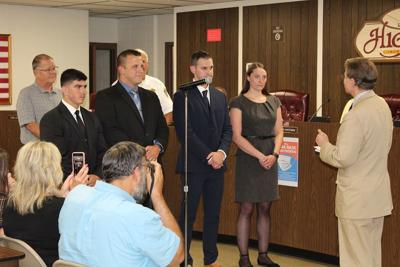 Highland swears in four new officers