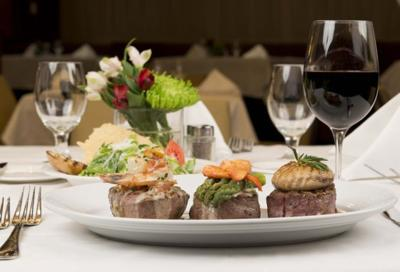 Filet Three Ways At William B S Steakhouse Blue Chip Hotel And Spa In
