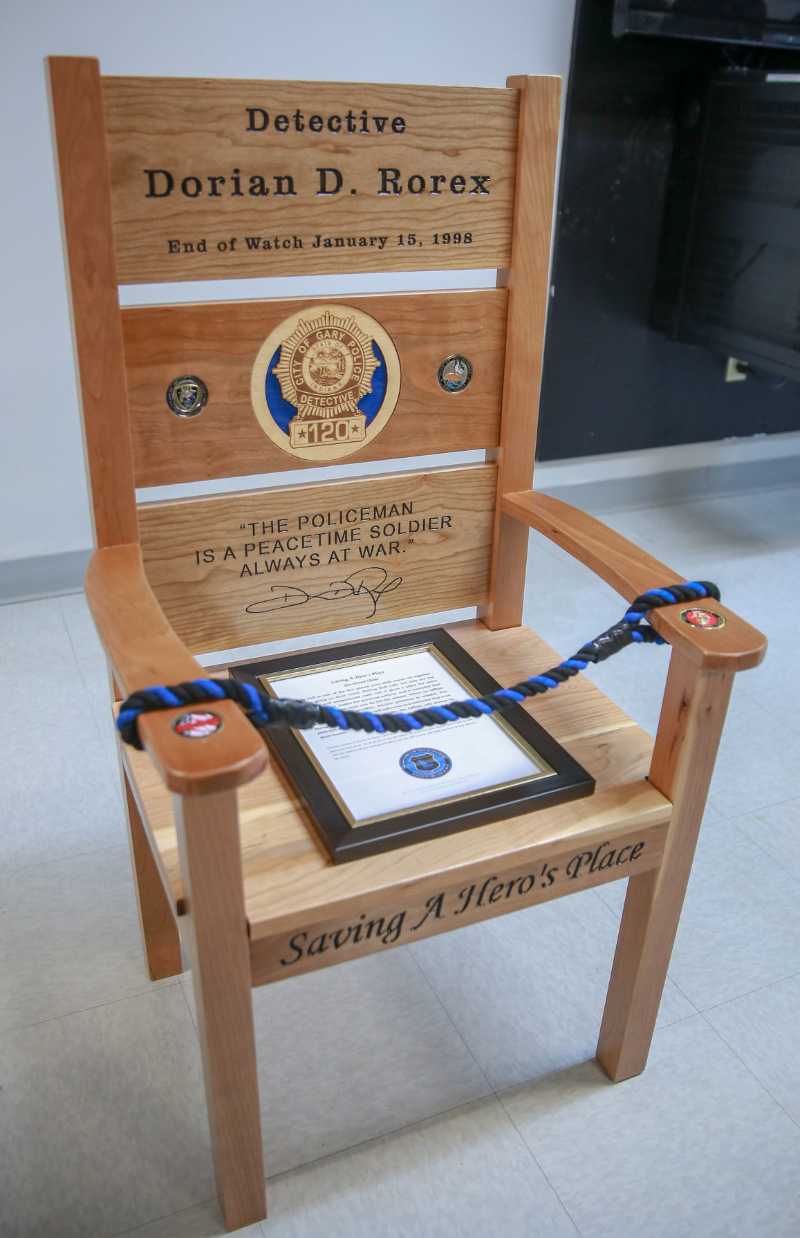 Honor Chair recalls ultimate sacrifice of 'our hero' | News