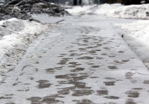 Icy, wintry mix creating dangerous road conditions