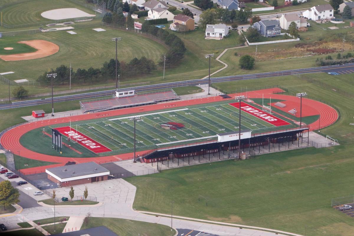 Portage High School Aerial