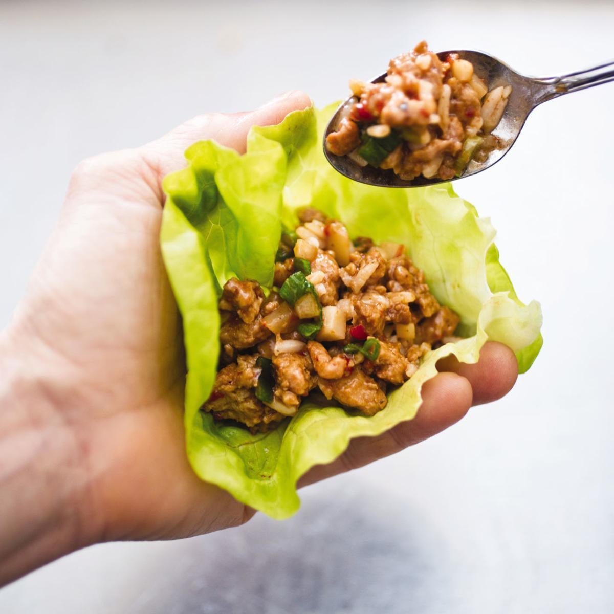 Food Column ATK Asian Chicken Lettuce Wraps