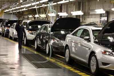 Vehicle parts made from recycled plastic bottles being installed at Chicago Assembly Plant