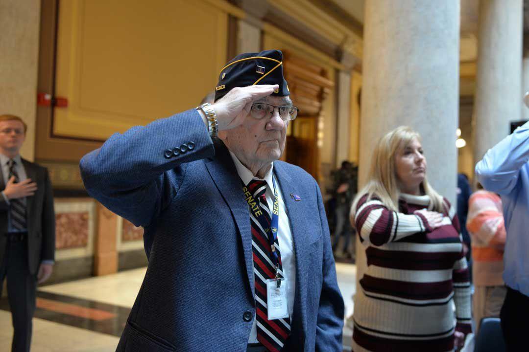Hoosier veterans present Hammond state senator 'Service Before Self' award