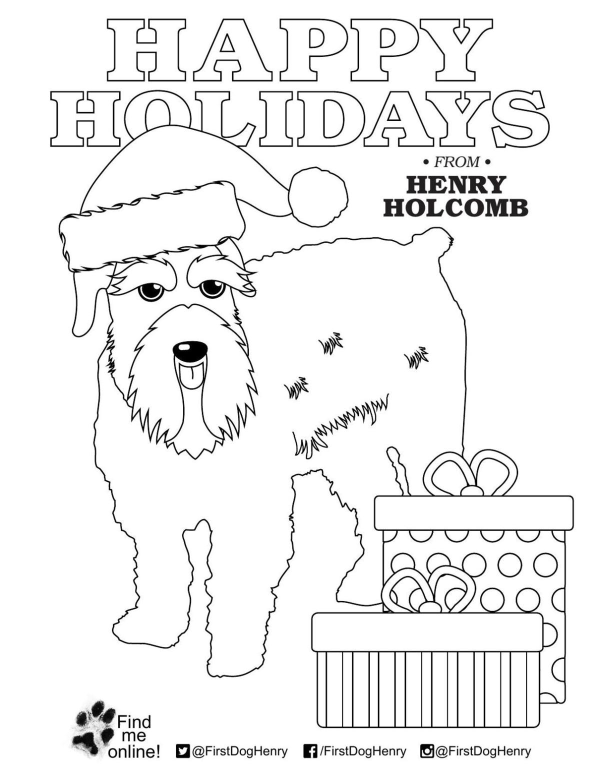 Henry Holcomb holiday coloring page