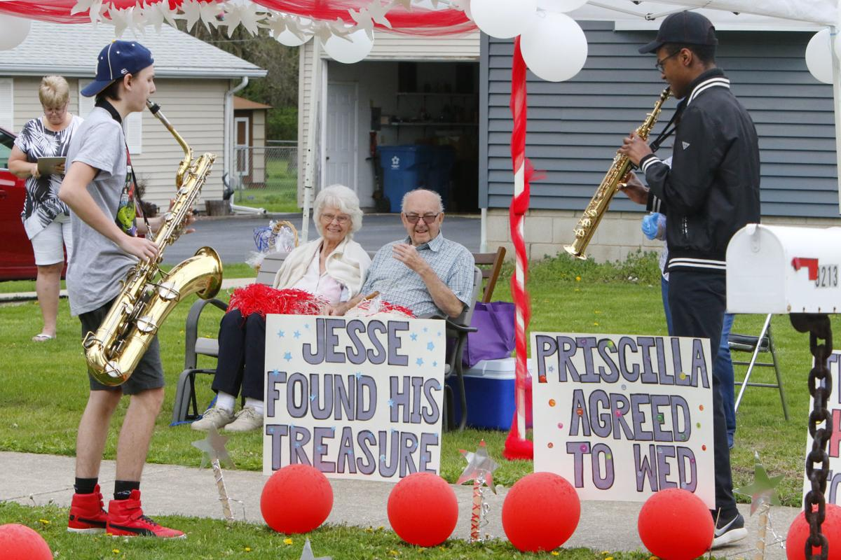 Jesse and Priscilla Jones celebrate their 72nd anniversary