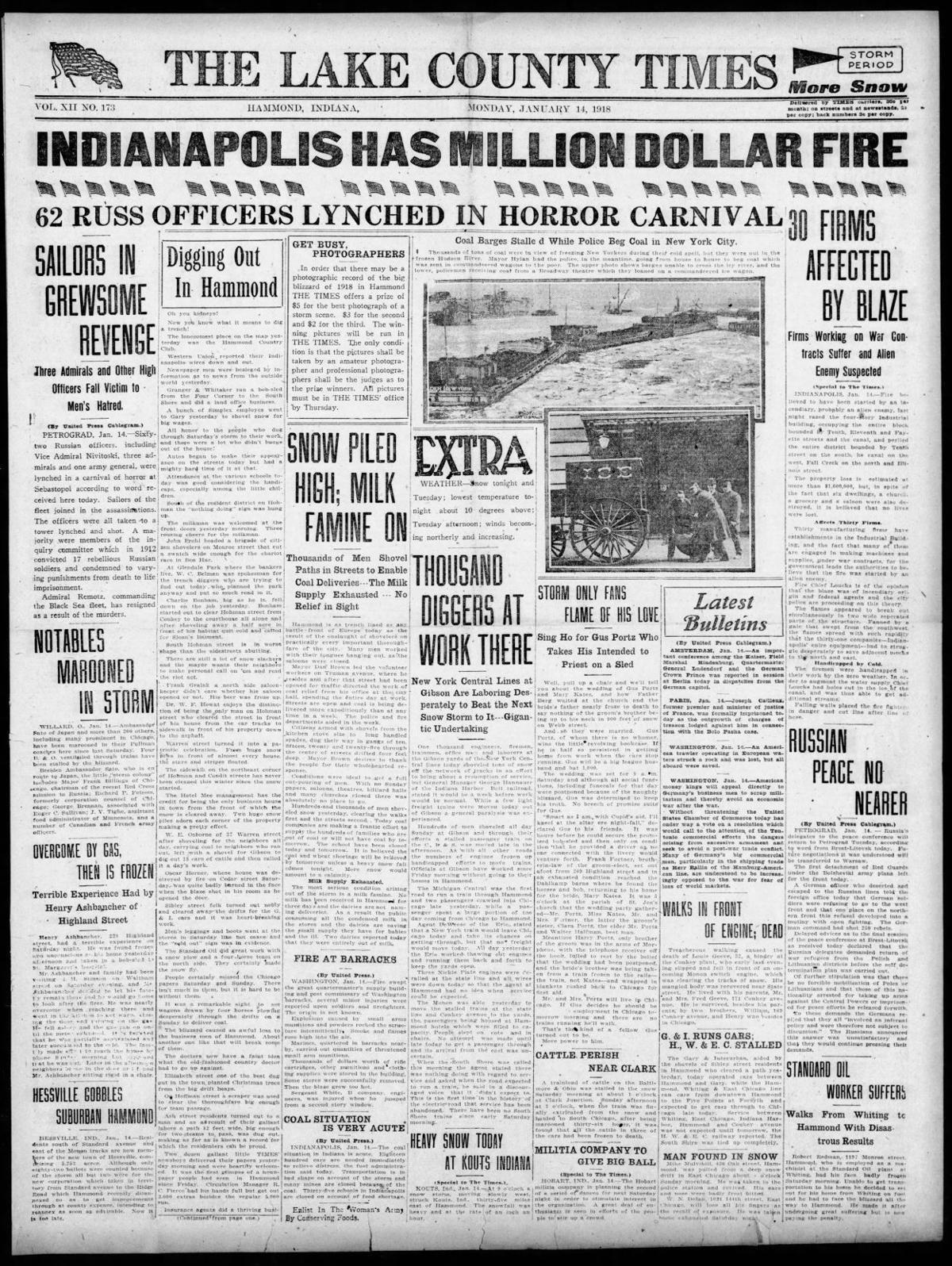 Jan. 14, 1918: Indianapolis Has Million Dollar Fire
