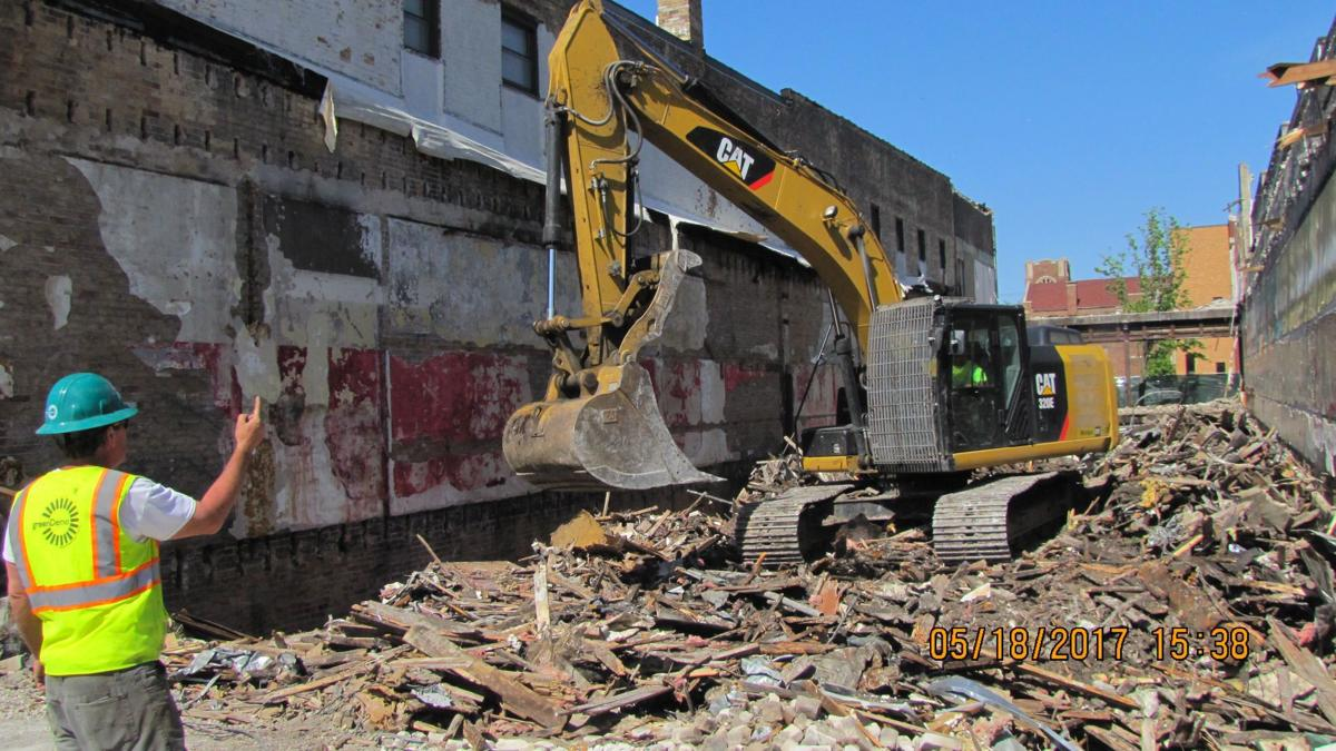 Michigan City buildings razed for plaza