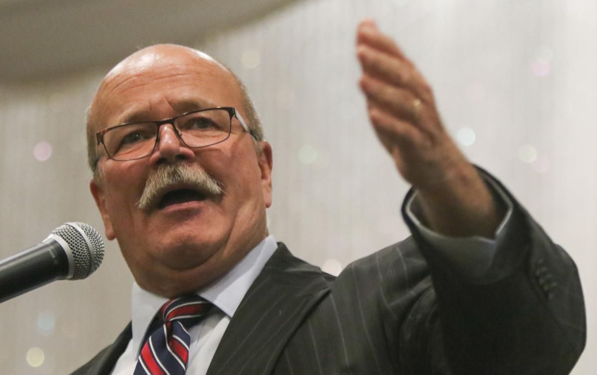 Indiana candidates for governor and Lt. Governor John Gregg and Christina Hale hold a rally