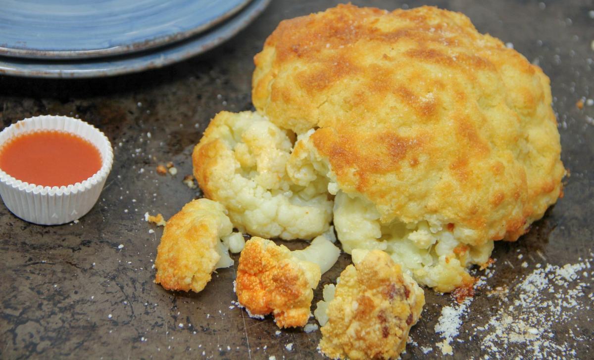 Food Column Healthy Roasted Whole Cauliflower