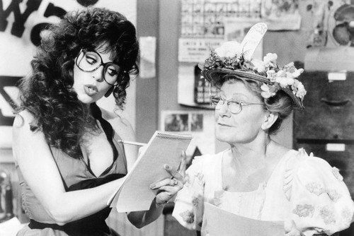 """Barbi Benton with Mininie Pearl in a Comedy Skit on CBS Variety Show """"Hee Haw"""""""