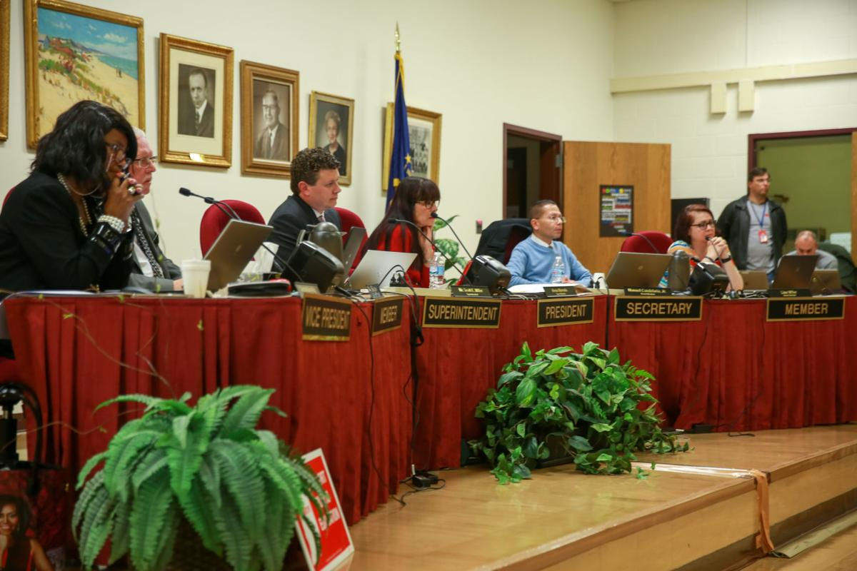 School Board meeting on high school consolidation