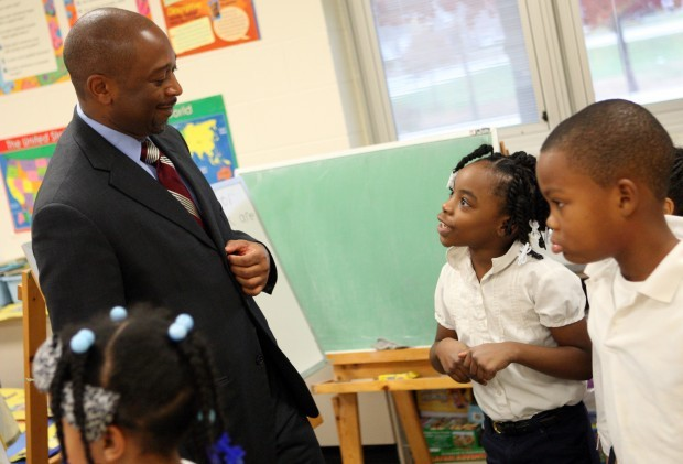Stroger is principal for a day at Dolton school
