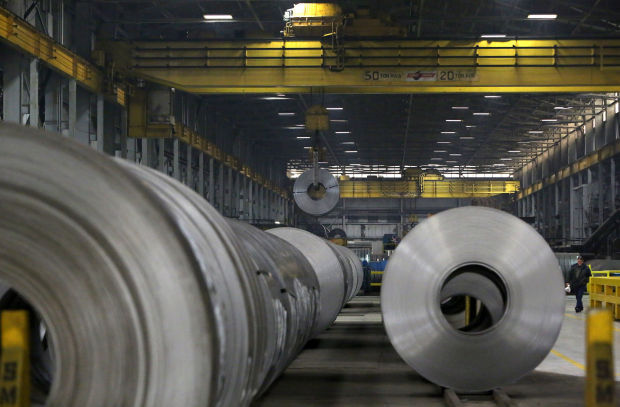 Great Lakes steel production fell by 14,000 tons