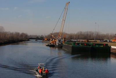Canal dredging in East Chicago