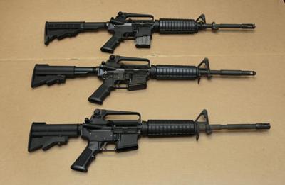 stock AR-15 gun