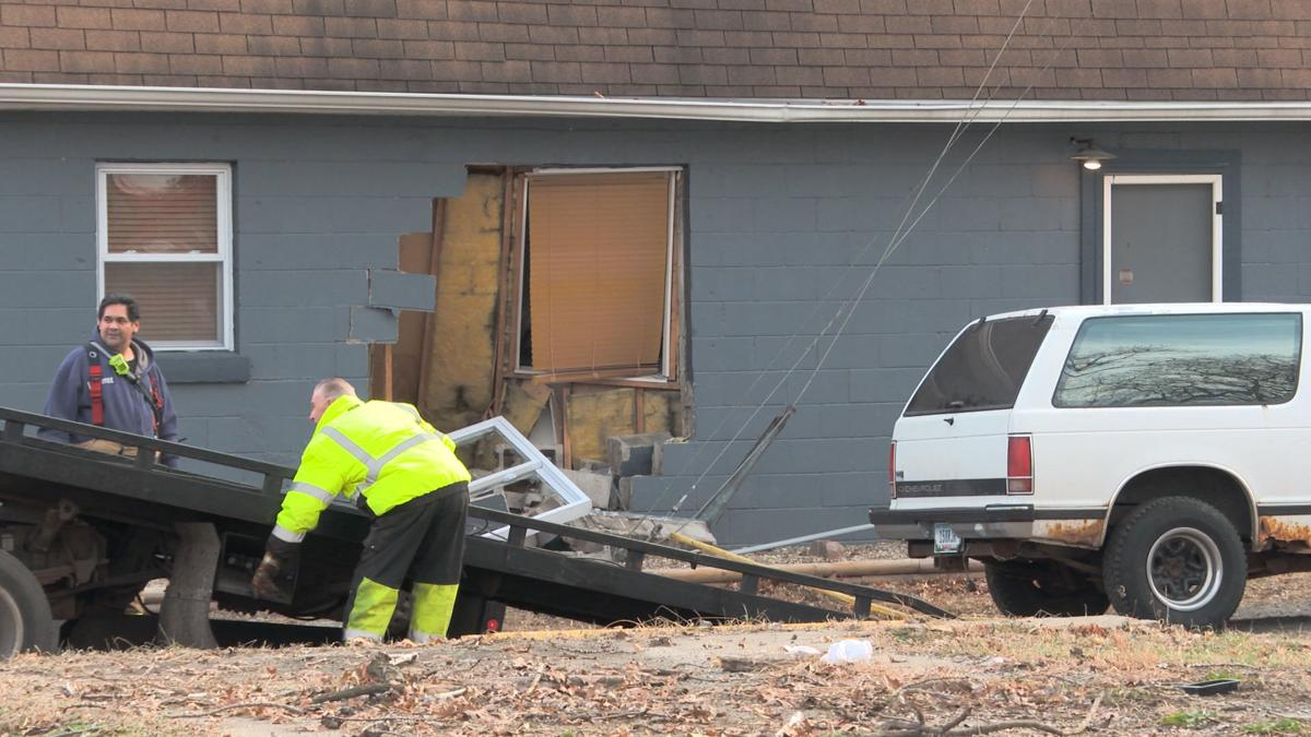 SUV slams into building in Lake Station