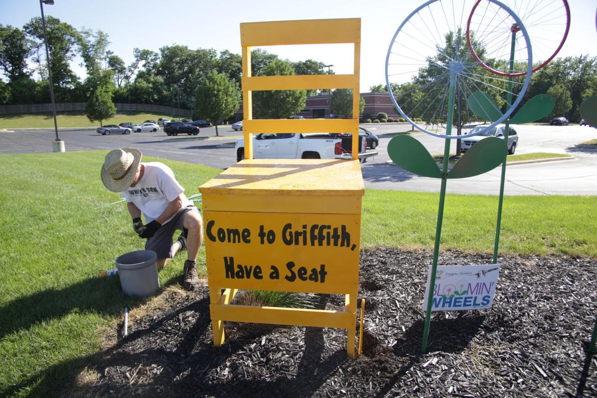 Griffith's decorated chairs have visitors sitting up and taking notice