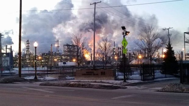 Flare-up roars at BP Whiting Refinery