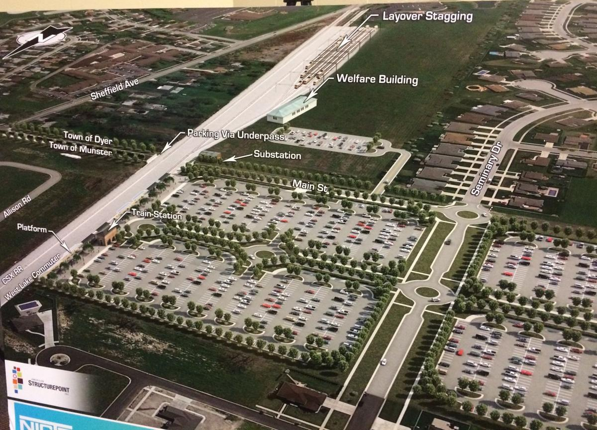 Indiana lake county dyer - Nictd Unveils Station Options For South Shore Extension