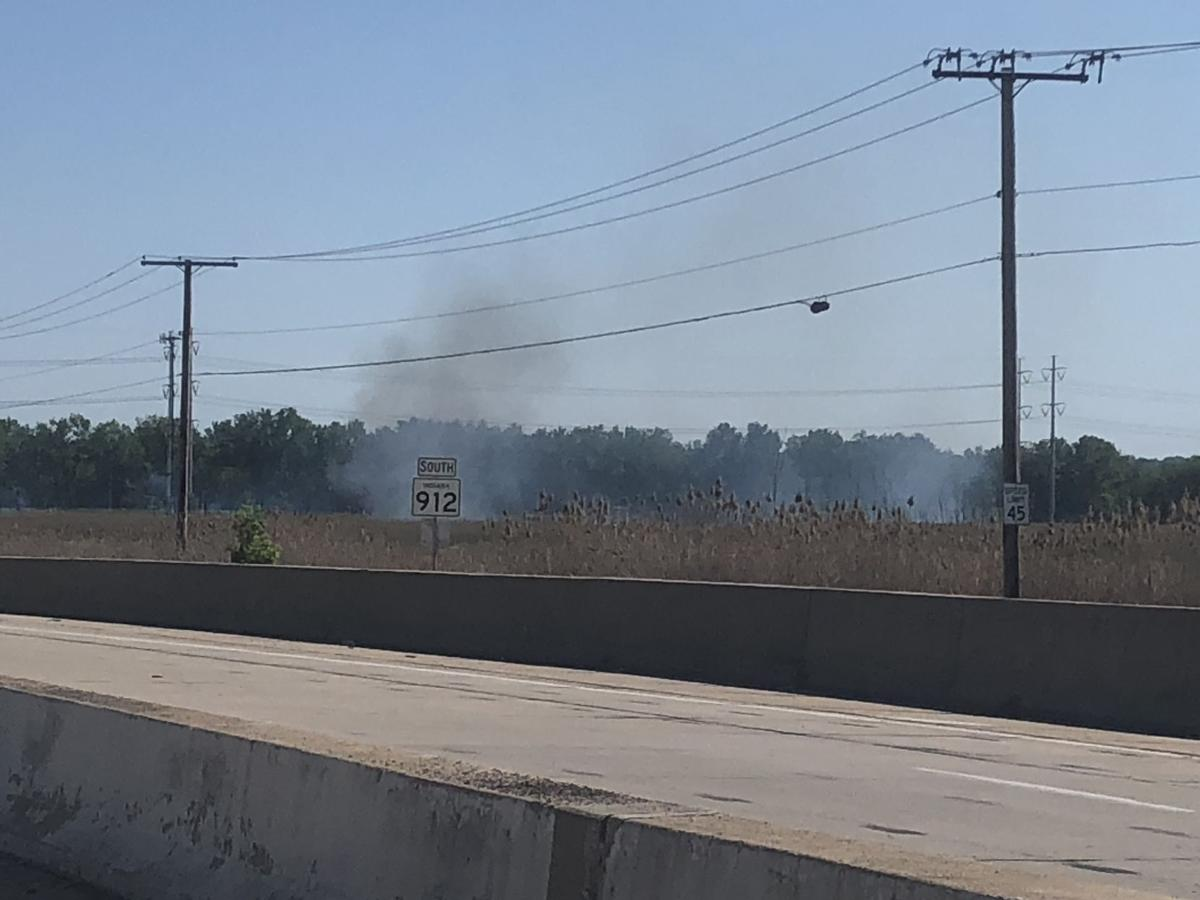 Smoke from 'spectacular' Little Cal swamp fire could be seen for miles