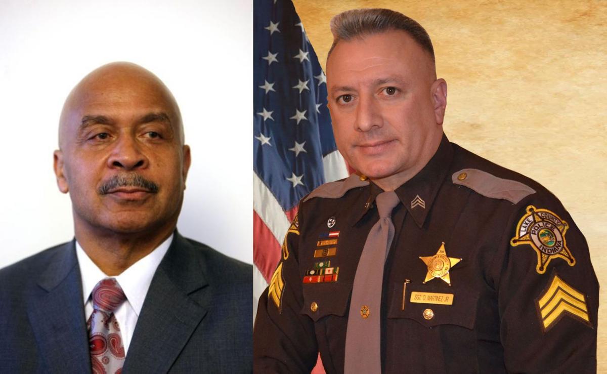 Richard Ligon and Sheriff Oscar Martinez Jr.