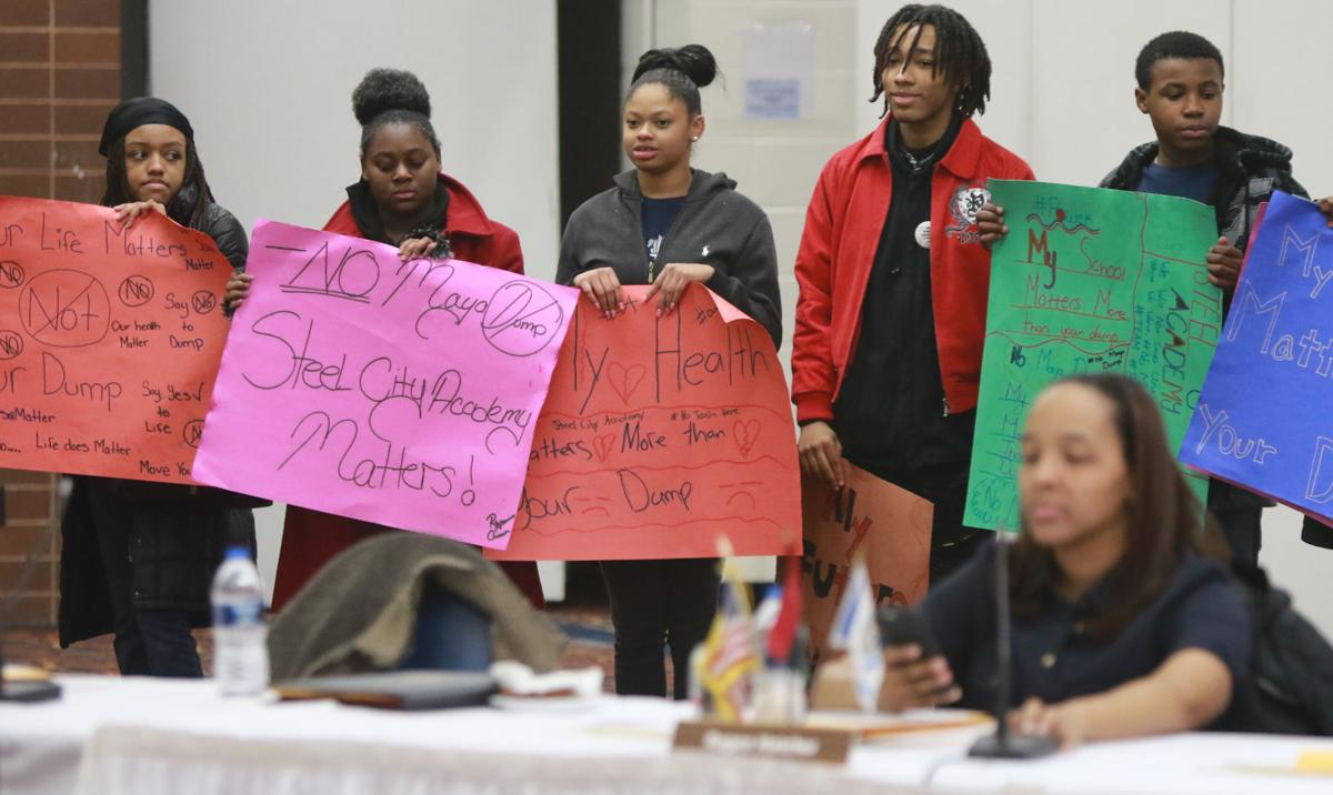 Students from Steel City Academy attend Gary City Council meeting.