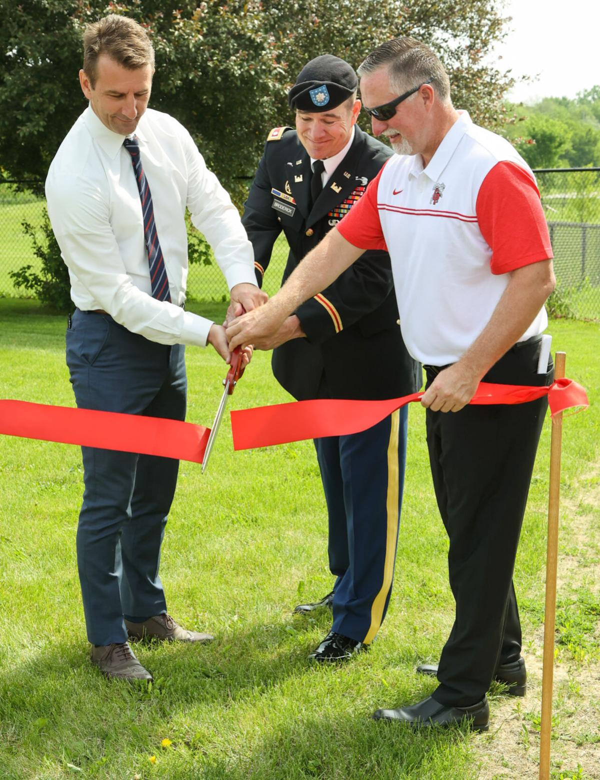 Ribbon-cutting marks end of a sanitary sewer infrastructure improvement project