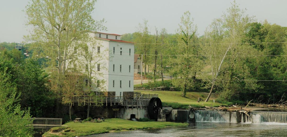 Mansfield mill from bridge