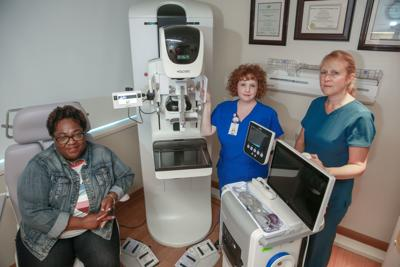 Royce Campbell had a breast cancer scare before getting a biopsy using a new technology