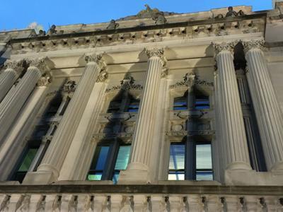 Indiana Statehouse exterior stock