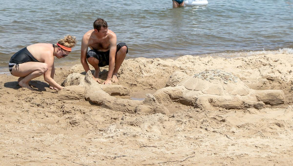 Sand sculpting contest at the Indiana Dunes