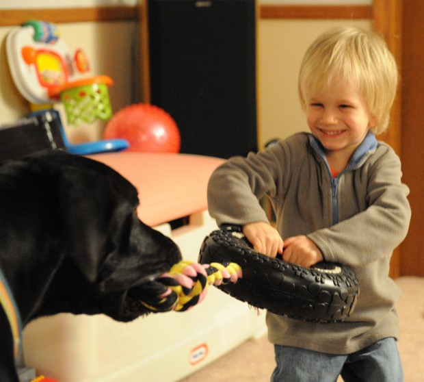 A boy, his dog and a big heart