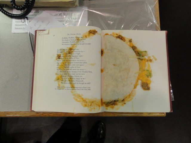 Taco bookmark in book donated to LaPorte library goes viral
