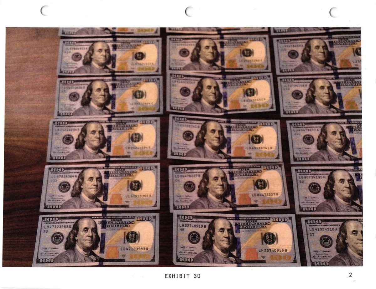 An FBI photo of the money a confidential informant paid Sheriff John Buncich
