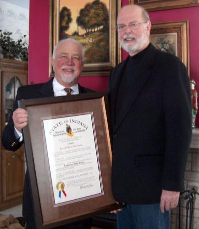 Former Lake County parks exec receives Sagamore of the Wabash