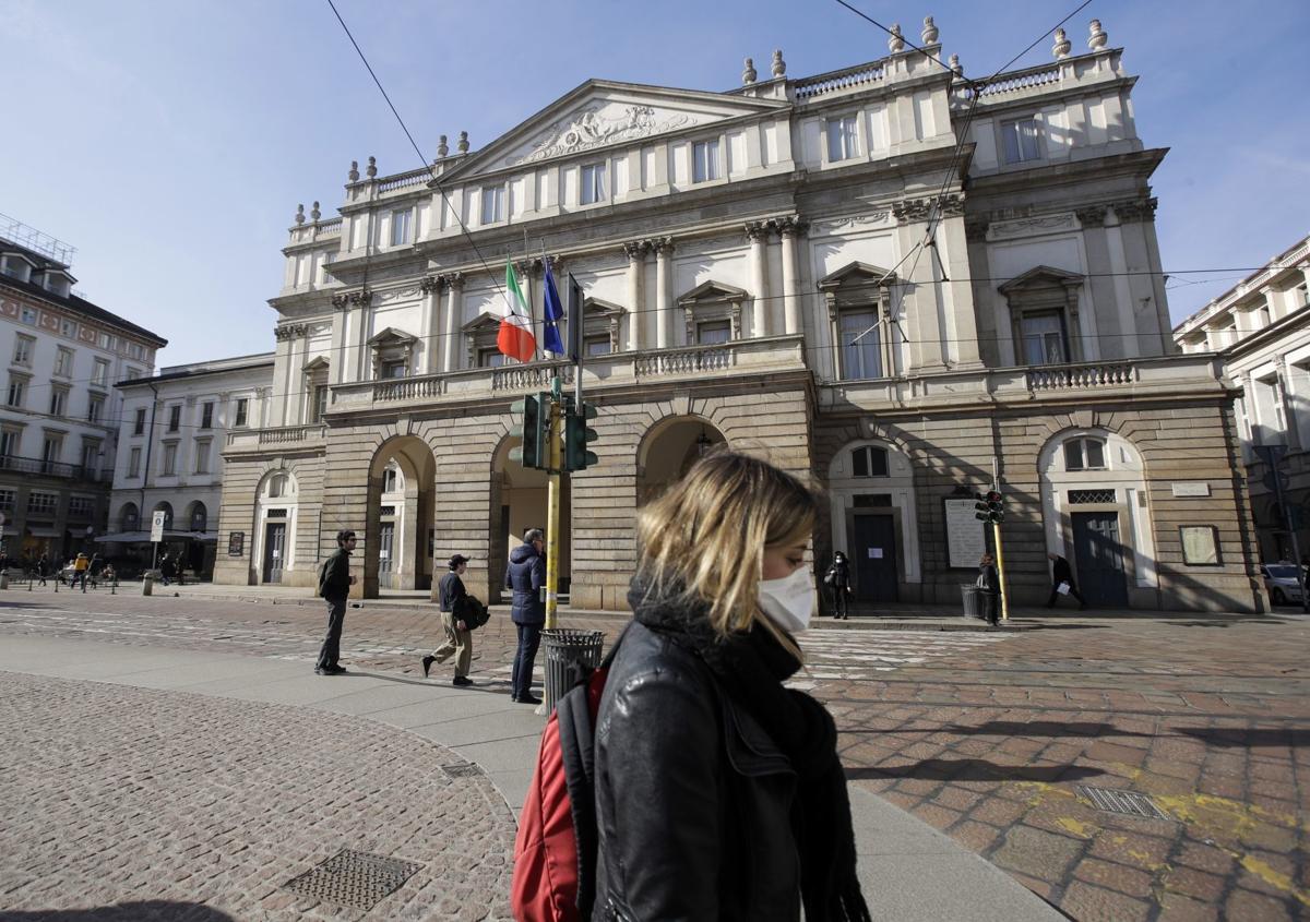 Virus Outbreak Italy La Scala
