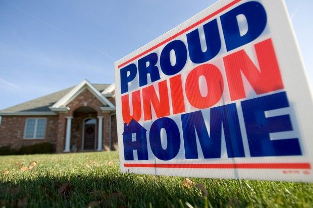 Proud Union Home sign
