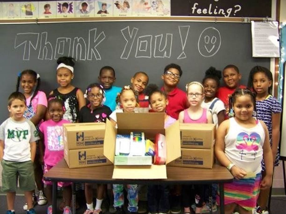 Merrillville students receive school kits from Elim program