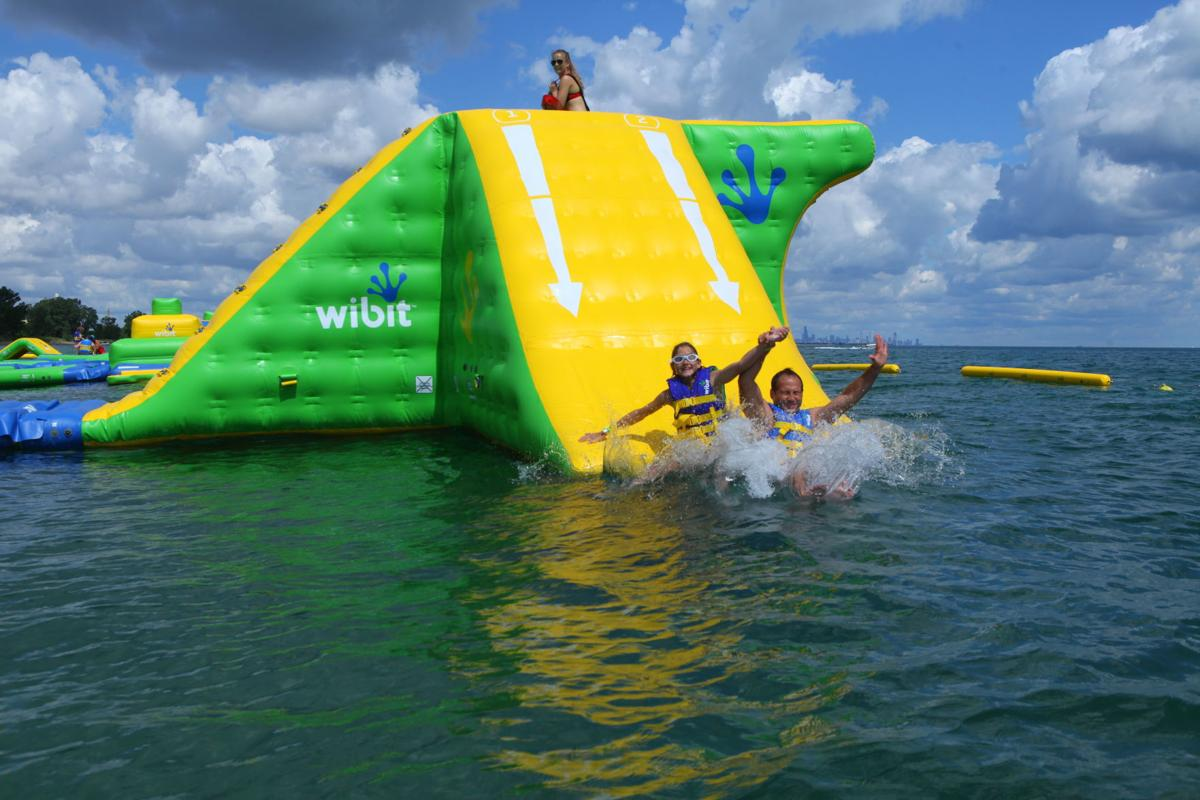 Floating WhoaZone water park to reopen on Lake Michigan on June 23