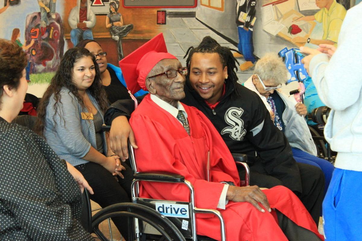 108-year old Lansing man receives honorary high school diploma