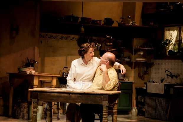 """Julia Child, Played by Karen Janes Woditsch and Paul Child, Played Craig Spidle, in """"To Master the Art"""""""