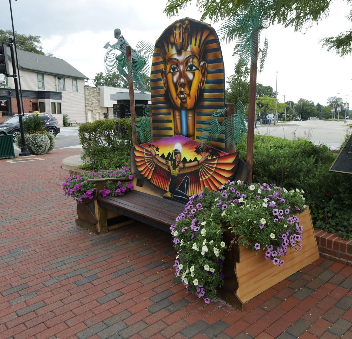 Benches in Tinley Park public art project offer a colorful, creative trip around the world