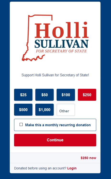 Holli Sullivan fundraising page