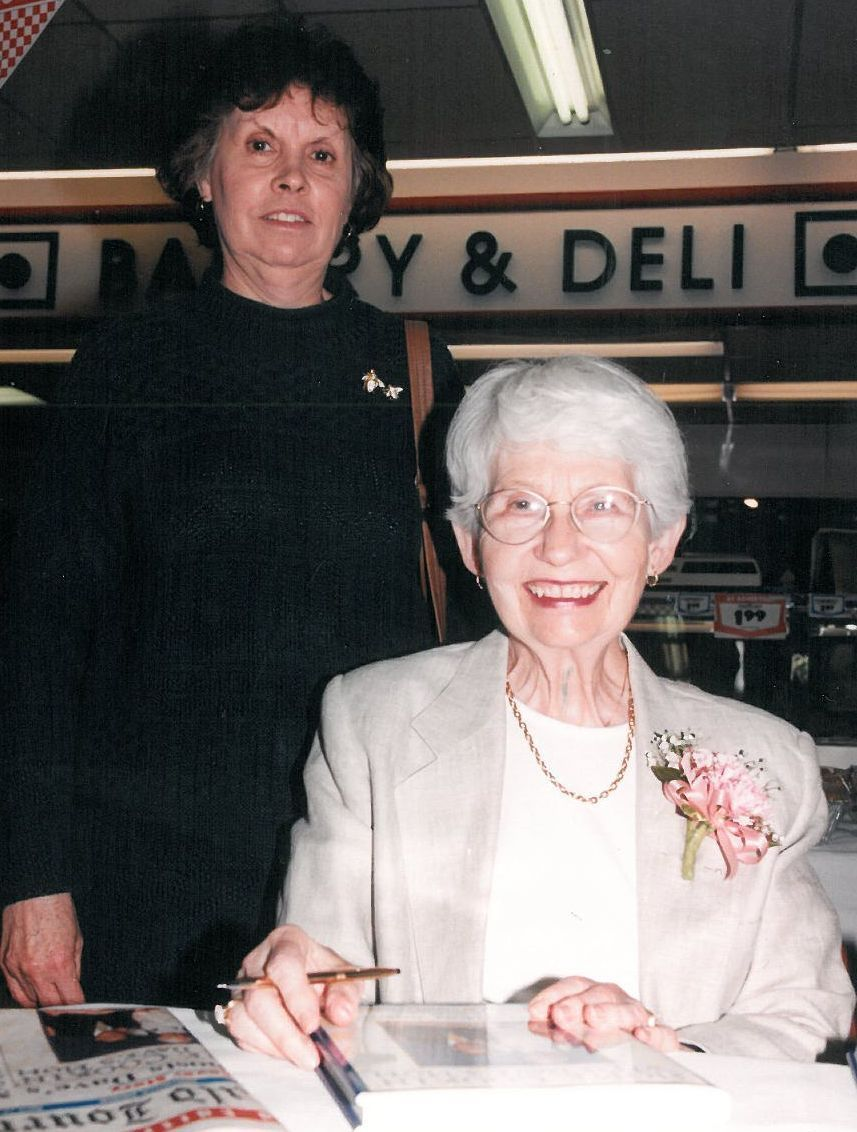 Times Columnist Phil Potempa's Mom Peggy with David Letterman's Mom Dorothy in 1997