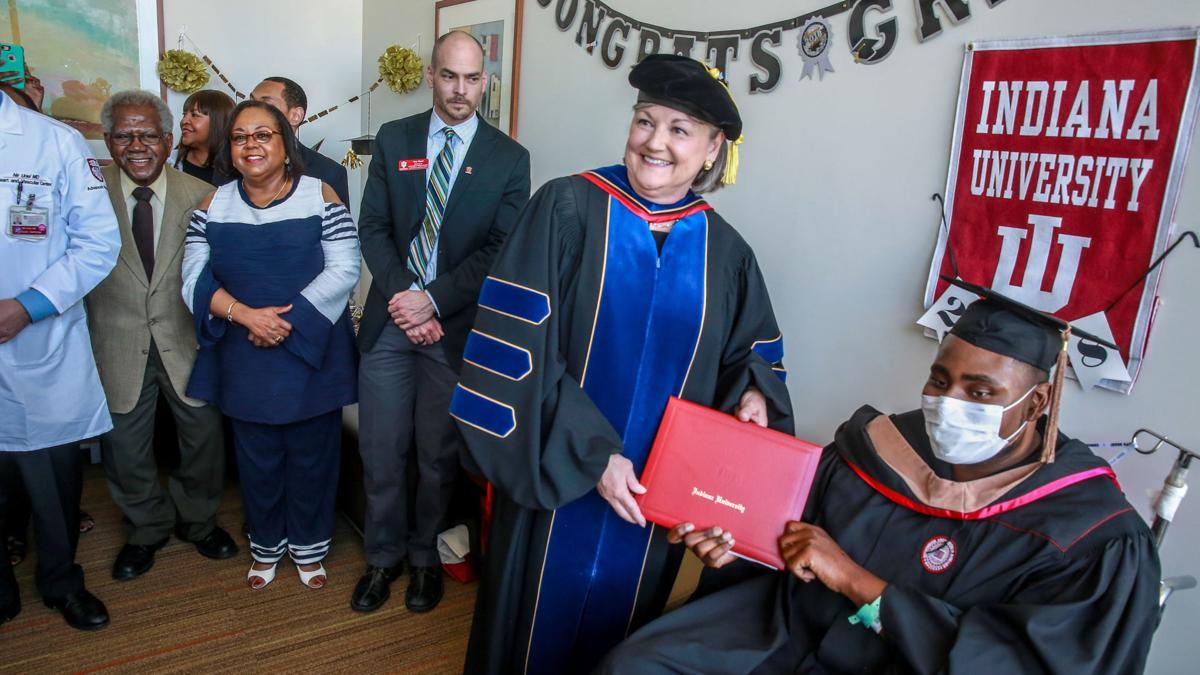 IUN student graduates at UC Hospital